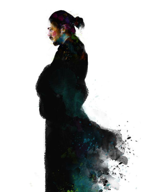 Drawn samurai shadow Art of: on taringa 308