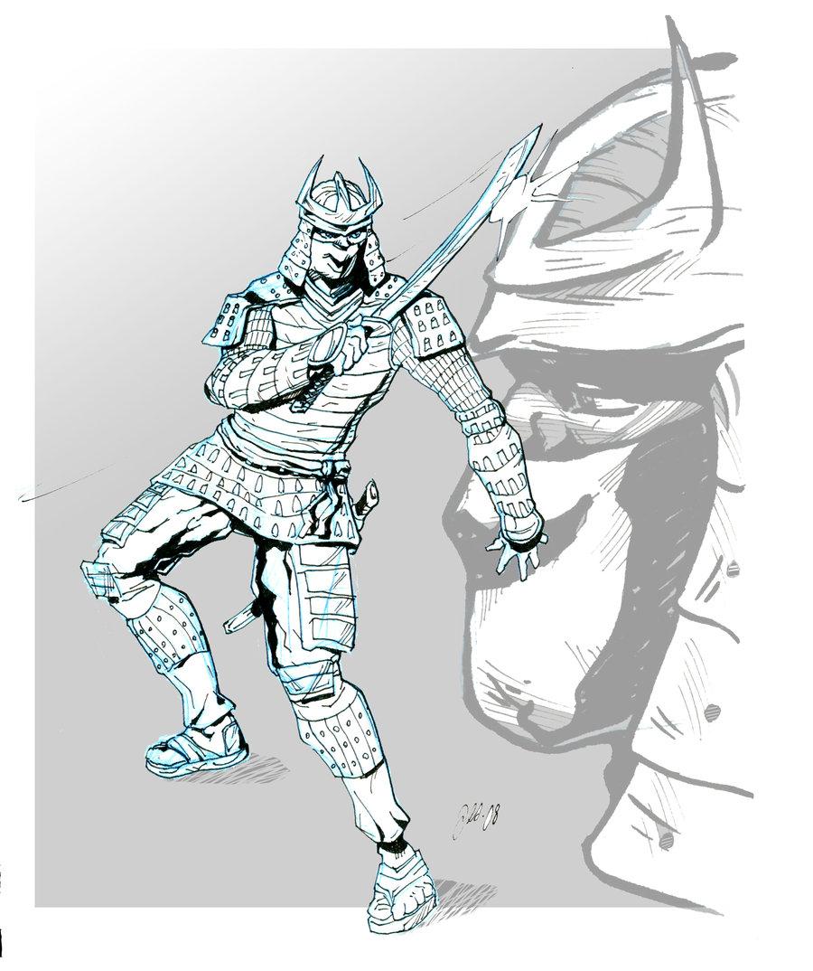 Drawn samurai simple Armor Drawing Go Simple Samurai