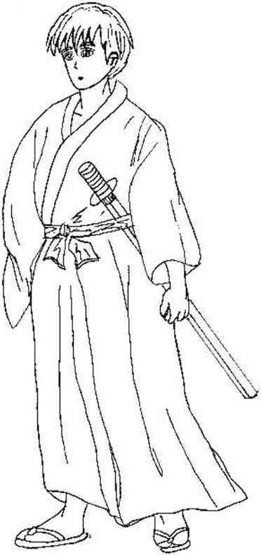Drawn samurai simple Anime Realistic Sketches Arts And