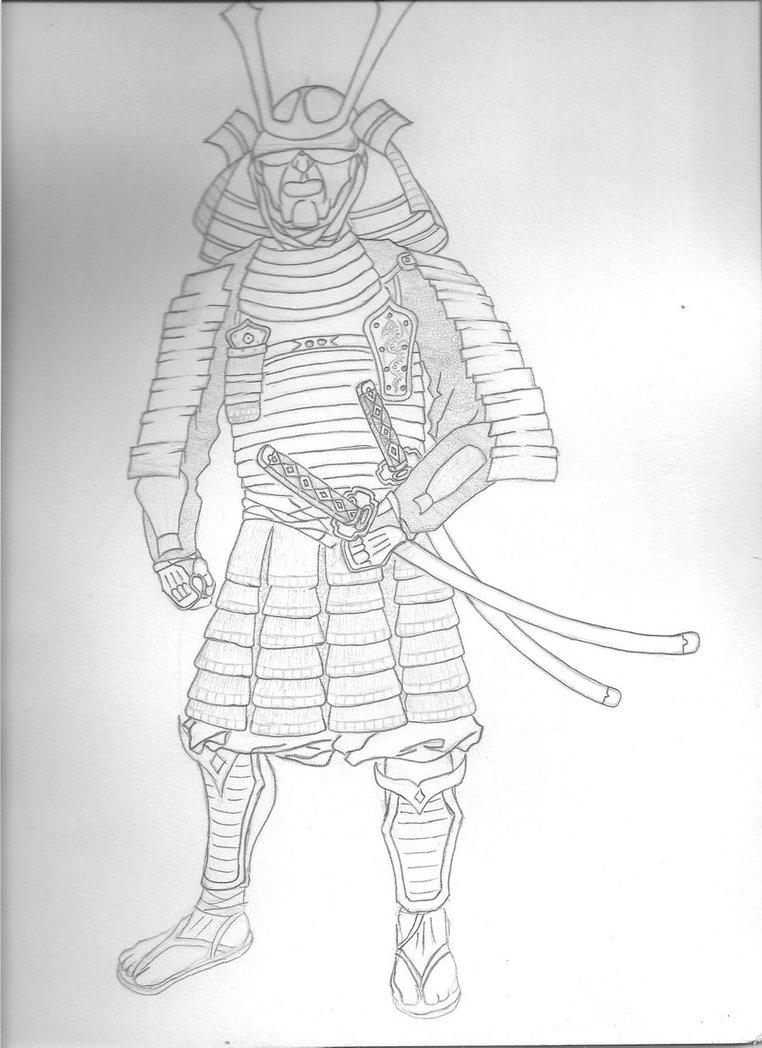 Drawn samurai simple 10 Samurai Armor Simple Simple