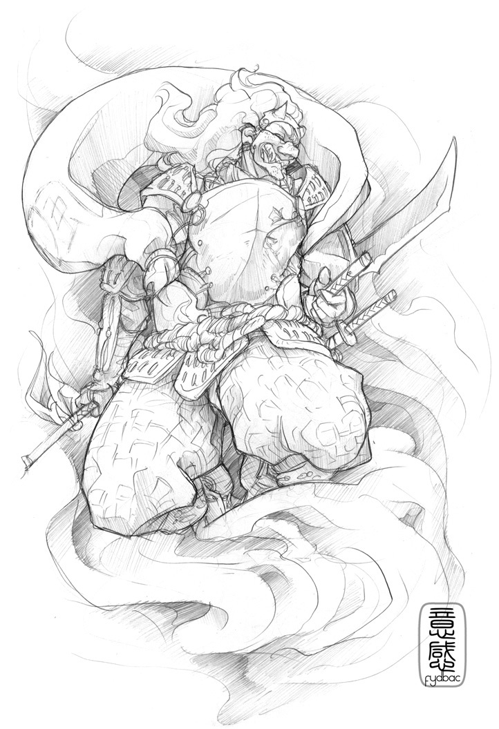 Drawn samurai sketch For tattoo Samurai Pinterest Woodburning