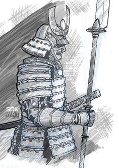 Drawn samurai sketch Google Search samurai SAMURAIS drawing