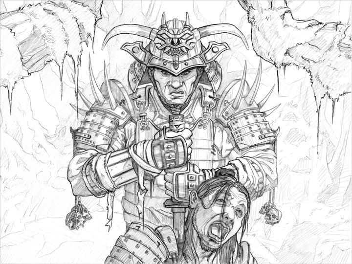Drawn samurai sketch Pesquisa Google samurai SAMURAIS Drawings