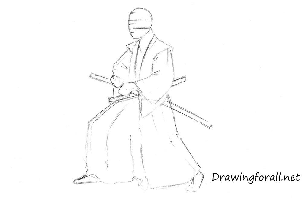 Drawn samurai sketch Draw samurai how Samurai to