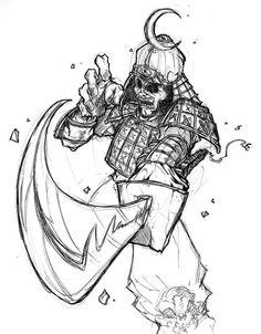 Drawn samurai sketch Pesquisa Google samurai  TATTOOS