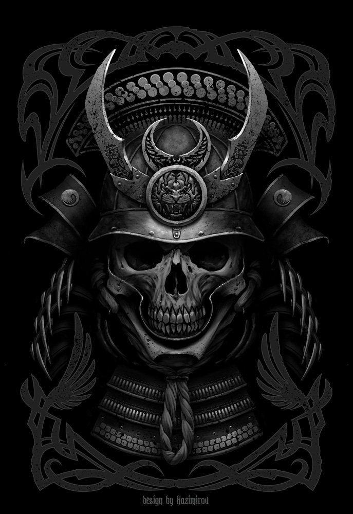 Drawn samurai skull At Samurai Last Samurai TattoosDrawing