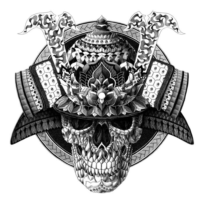Drawn samurai skull Art Samurai Skull ideas about