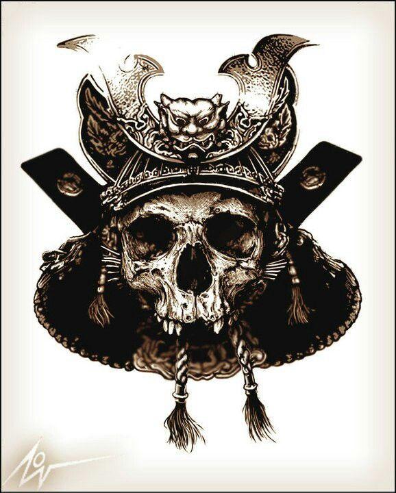 Drawn samurai skull Samurai Skull by best on