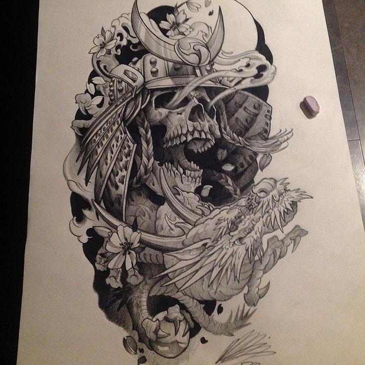 Drawn samurai skull Samurai SOLD Thanks Pinterest best