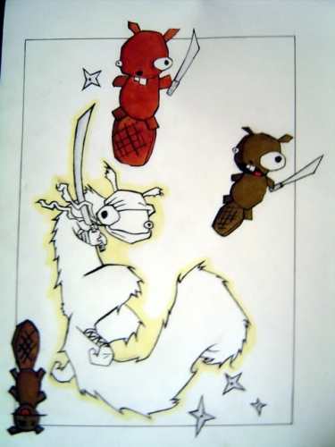 Drawn samurai squirrel Vs marker 2005 Samurai 2005