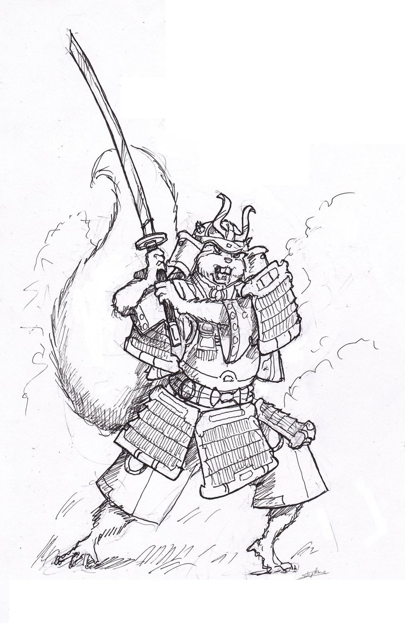 Drawn samurai squirrel Samael1103 Samurai Squirrel Squirrel by