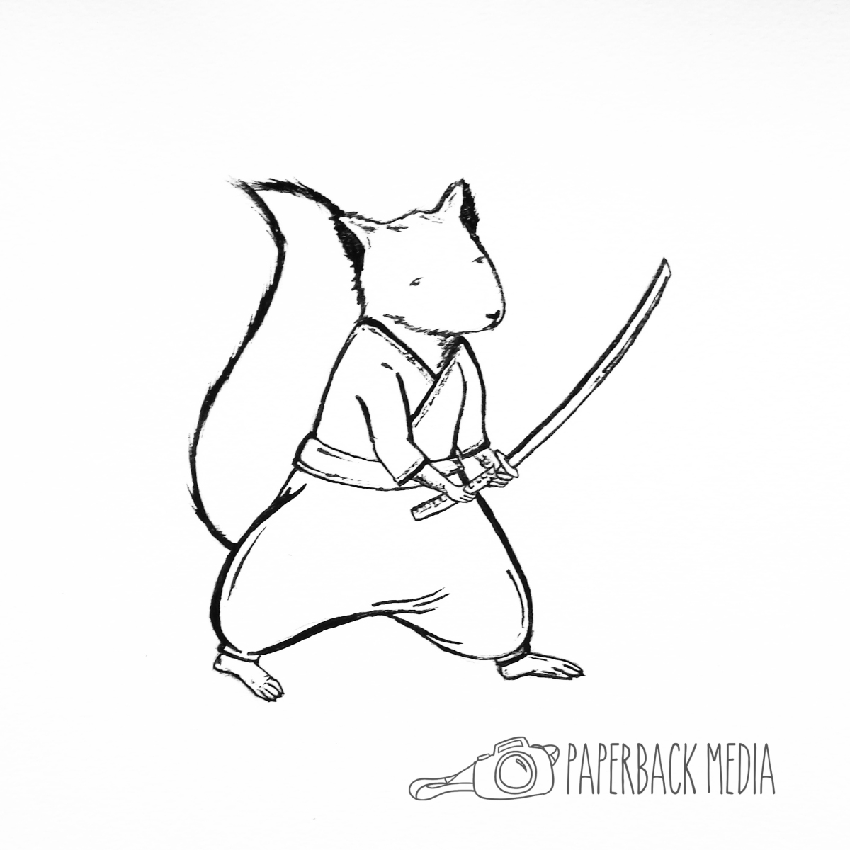 Drawn samurai squirrel Samurai Paperback  Media Squirrel