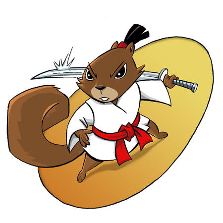 Drawn samurai squirrel Samurai by Squirrel on Sami