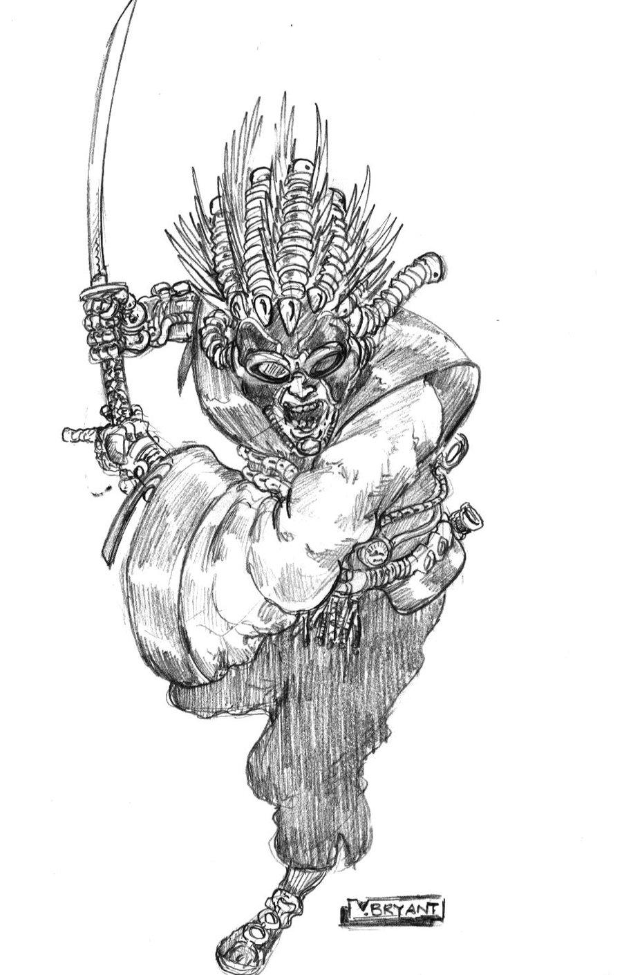 Drawn samurai steampunk DeviantArt by Steampunk VincentBryantArt Samurai