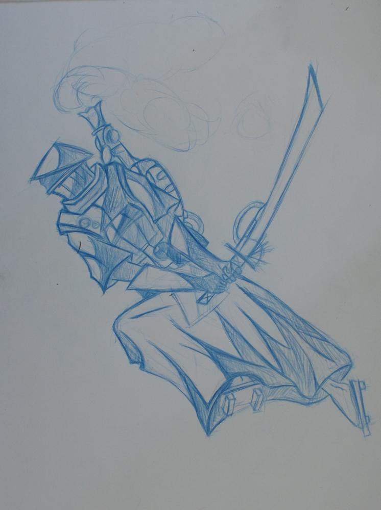 Drawn samurai steampunk By on tieskevo DeviantArt by
