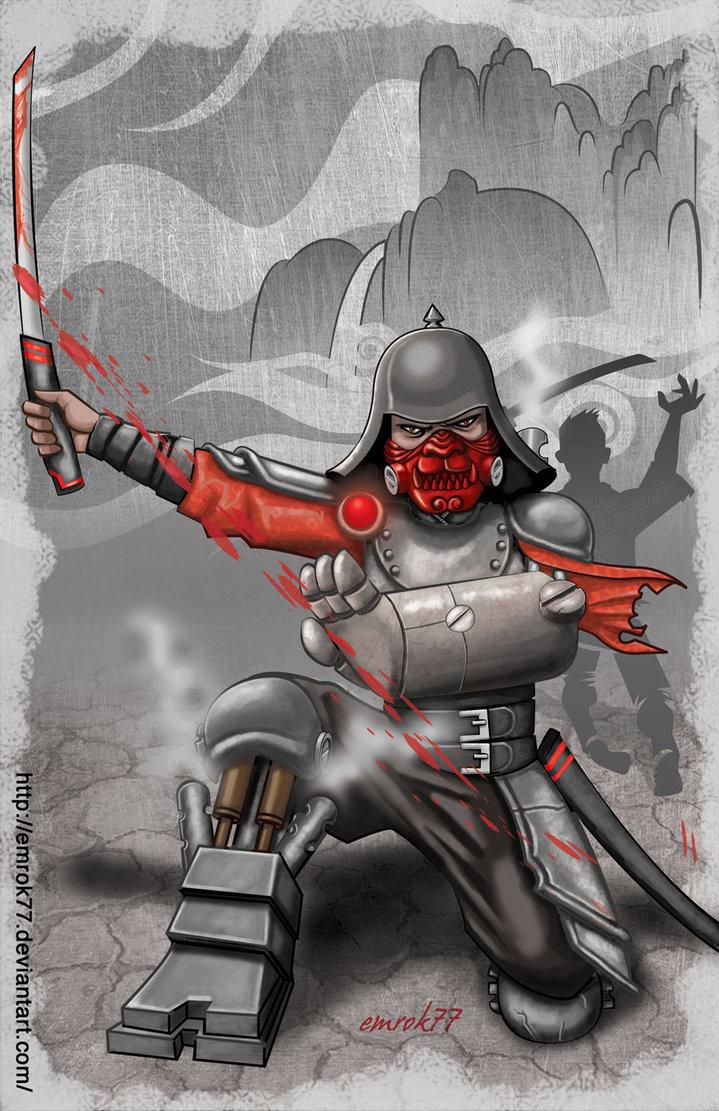 Drawn samurai steampunk By on EmanuelMacias DeviantArt by