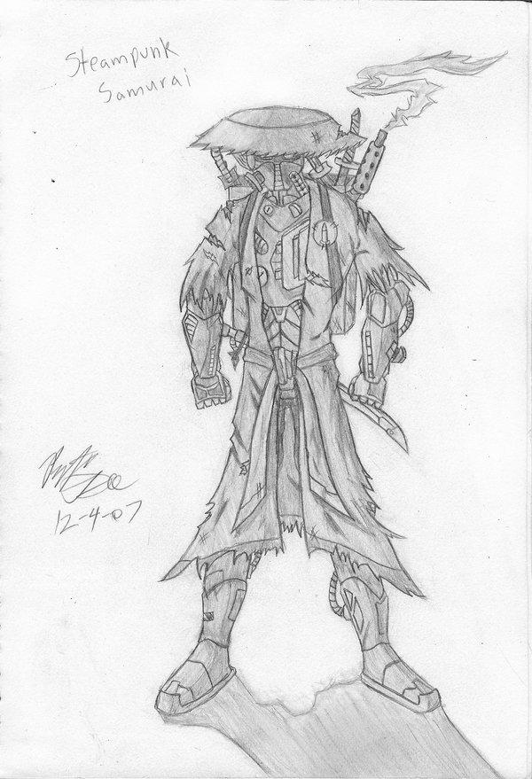 Drawn samurai steampunk By Gee Gee Man Samurai
