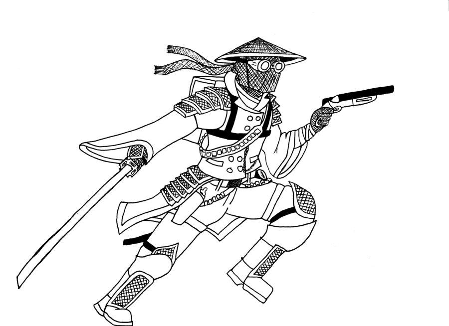 Drawn samurai steampunk DeviantArt Samurai Samurai Rough Rough