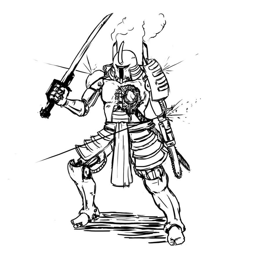 Drawn samurai steampunk Samurai by by xtrapieces Robo