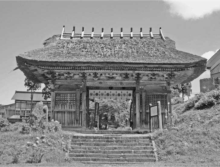 Drawn samurai temple Dainichibo of a Killed and