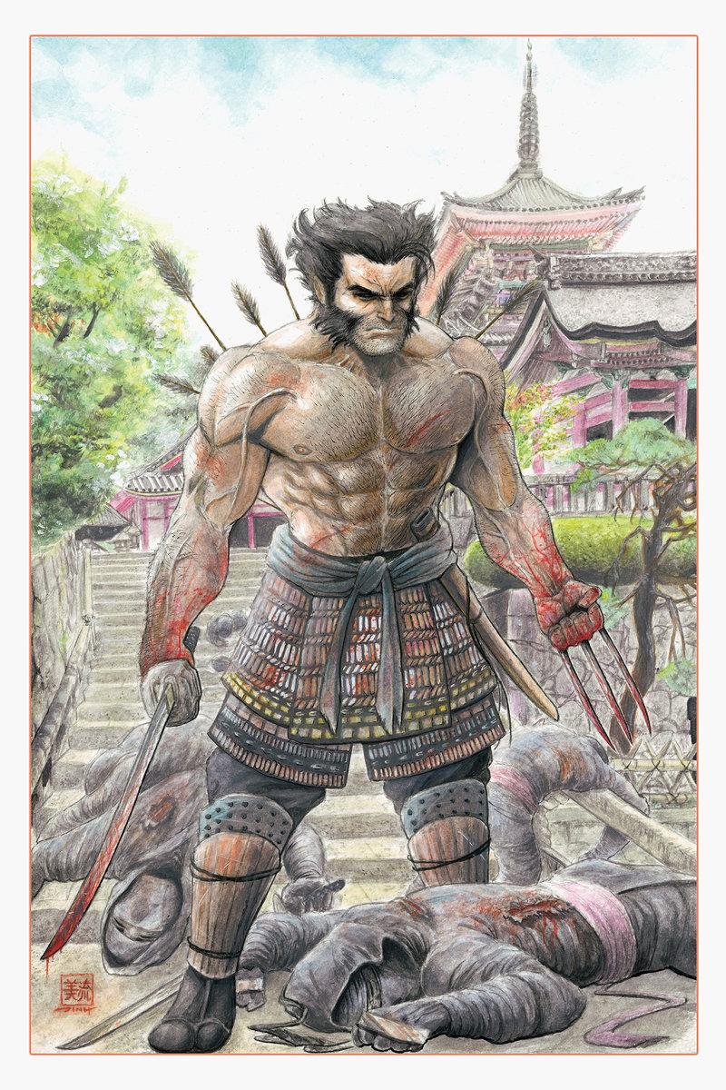 Drawn samurai temple Temple Kiyomizu Samurai Samurai Samurai