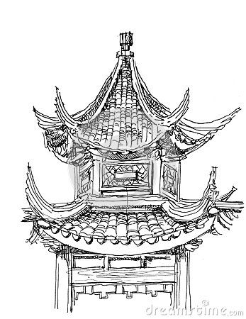 Drawn samurai temple Best Japan Chinese and about