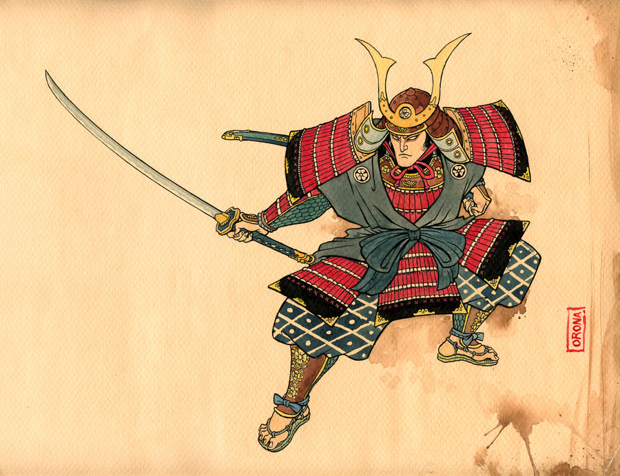Drawn samurai traditional E designs 21 Japanese best