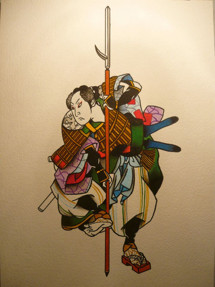 Drawn samurai traditional Tattoo Pinterest images Japanese best
