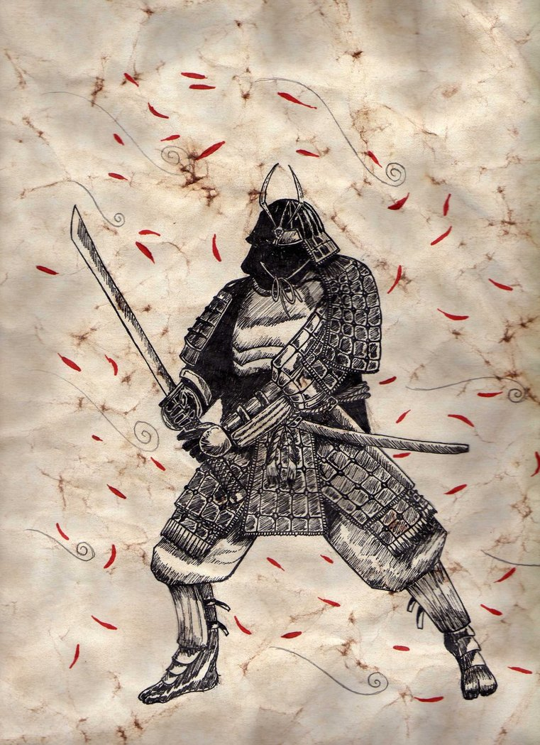 Drawn samurai traditional (practice) Danijel on Knez (practice)