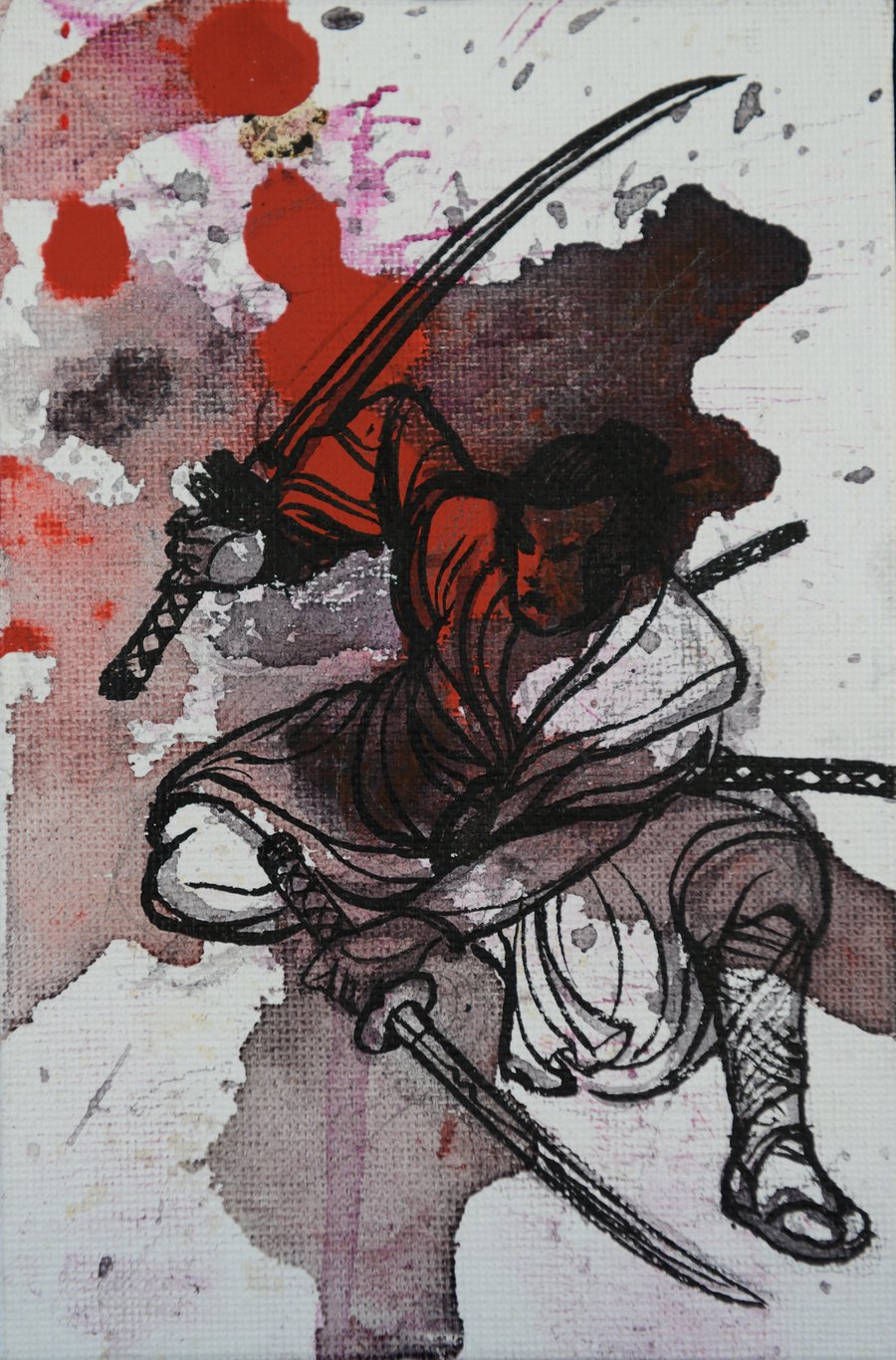 Drawn samurai two sword ThoughtsThunk ThoughtsThunk warrior two on