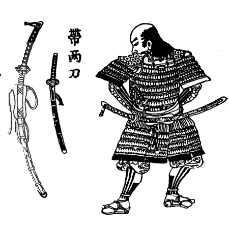 Drawn samurai two sword Powered Wikia Military Katana Katana
