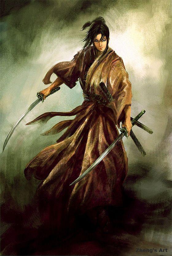 Drawn samurai two sword Samouraï best on Ninja Pinterest