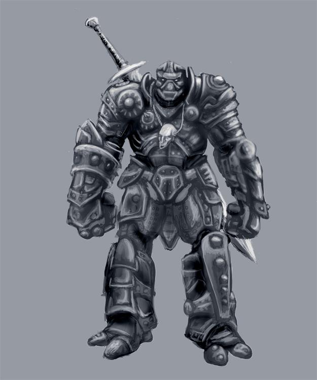 Drawn samurai warforged Forge the Shaad produced deviantart