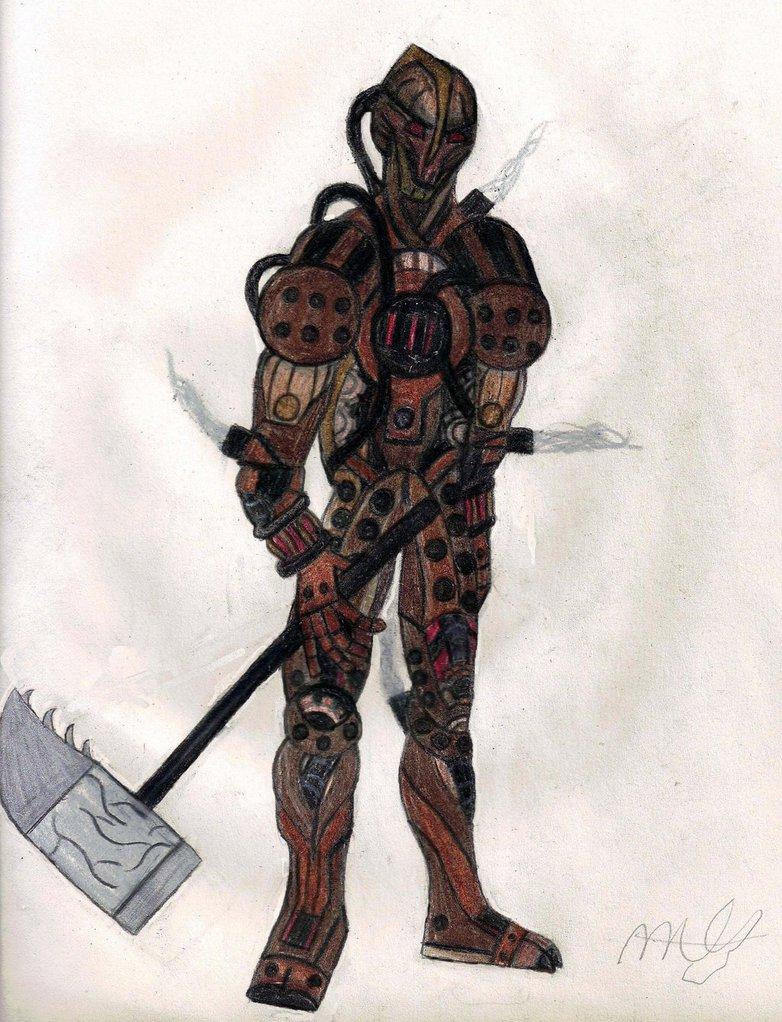 Drawn samurai warforged Forged Forged desdemona16 by War