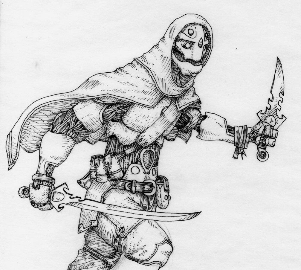 Drawn samurai warforged 92 warforge Warforged by Assassin