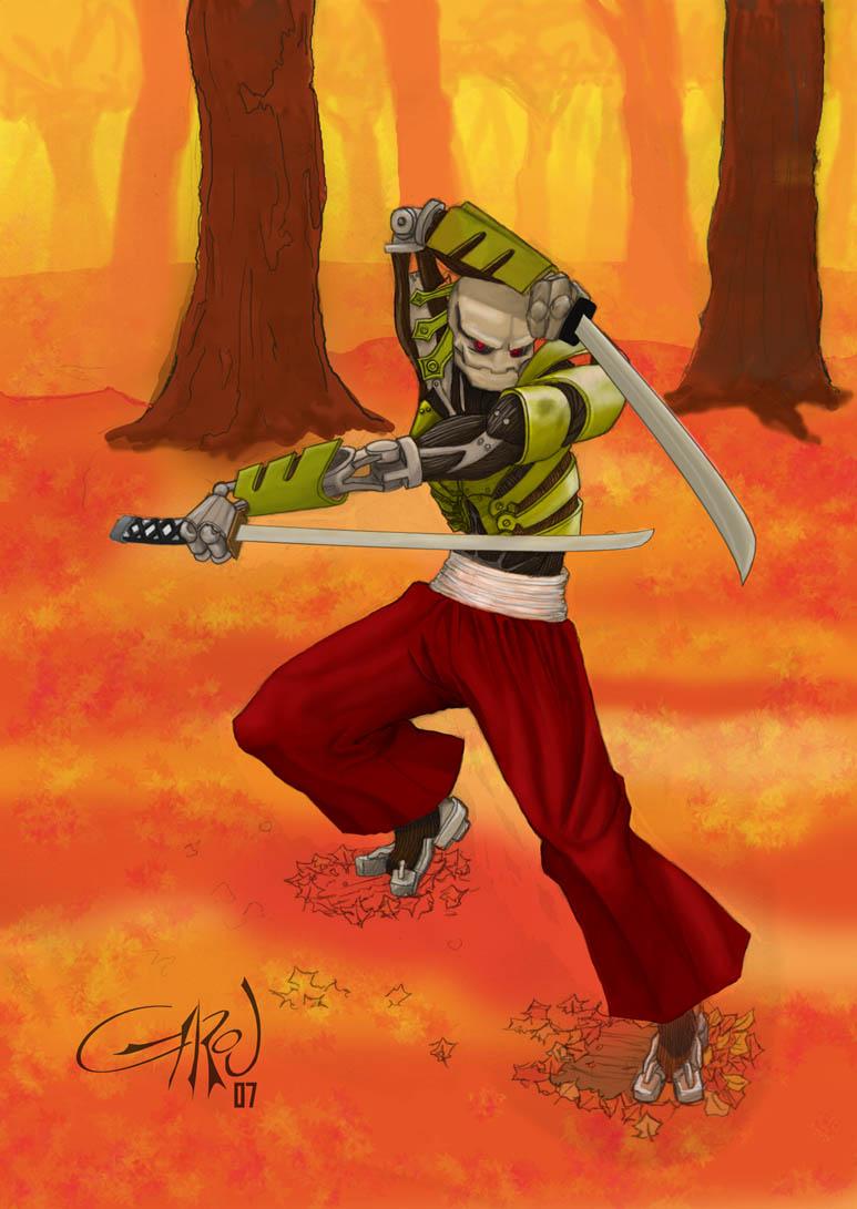 Drawn samurai warforged Jesse on Samurai Garouza by