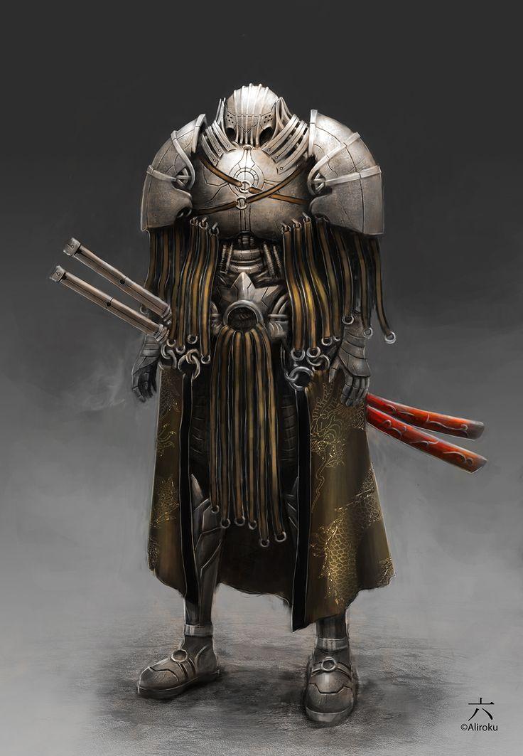 Drawn samurai warforged Cyborg Pinterest 22 images best