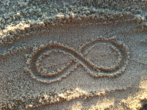 Drawn sand infinity More on this symbol infinity