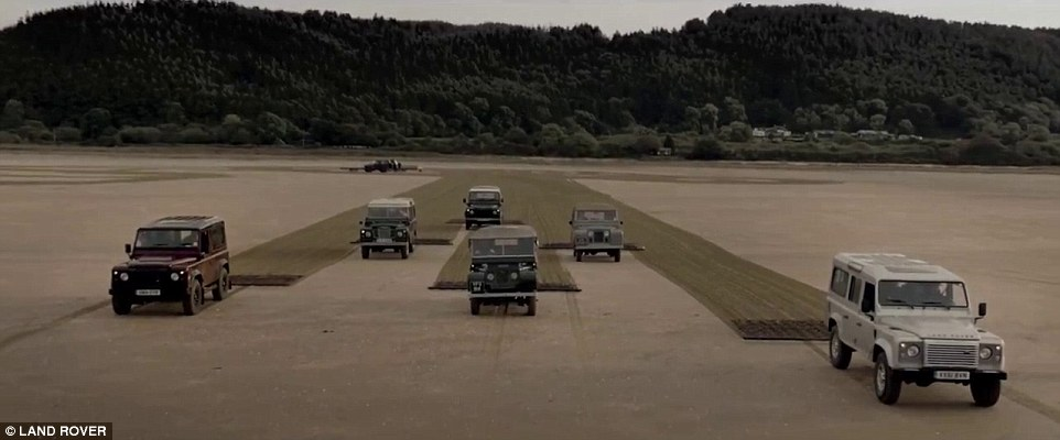 Drawn sand land rover Biggest create Defenders: Land Six