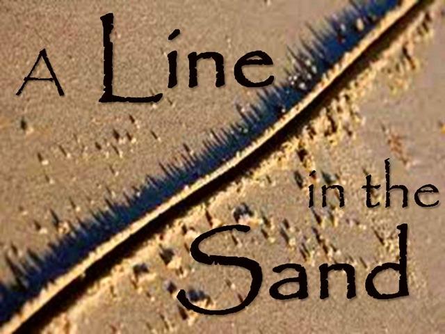 Drawn sand line in 2013 Line in Stuff 21