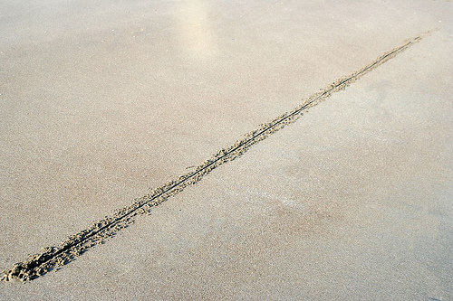 Drawn sand line in The Photography by Mission Line