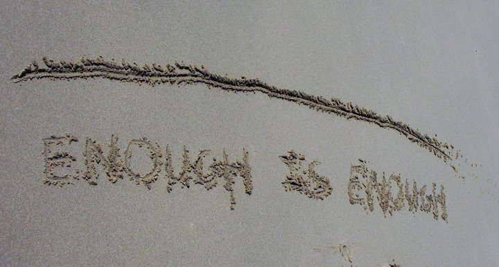 Drawn sand line in A image SOMETIMES SAND TO