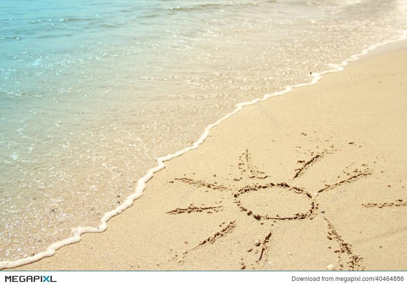 Drawn sand sun Megapixl Sun 40464886 Stock The