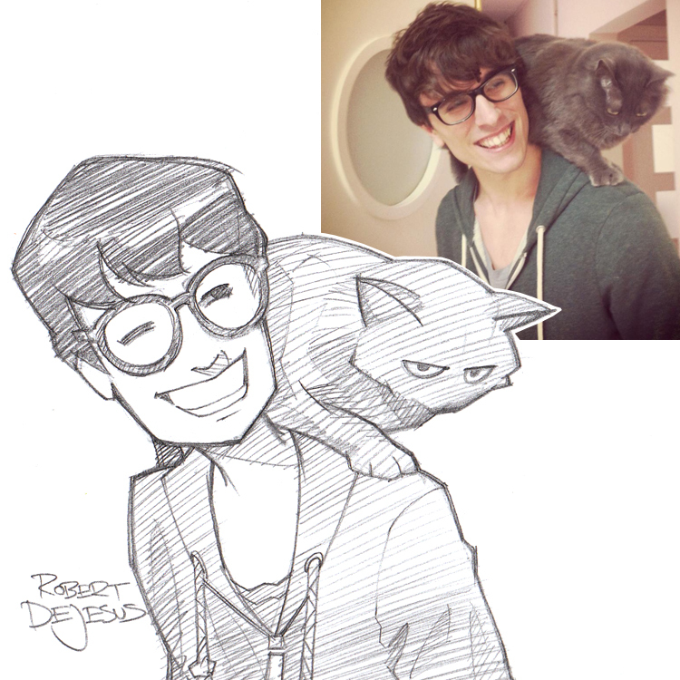 Drawn portrait anime Portrait Turns Sketches Disney and
