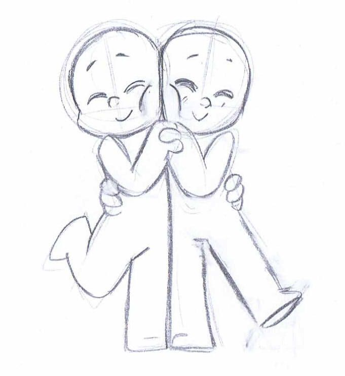 Drawn kopel simple Pinterest Chibi best images Couple