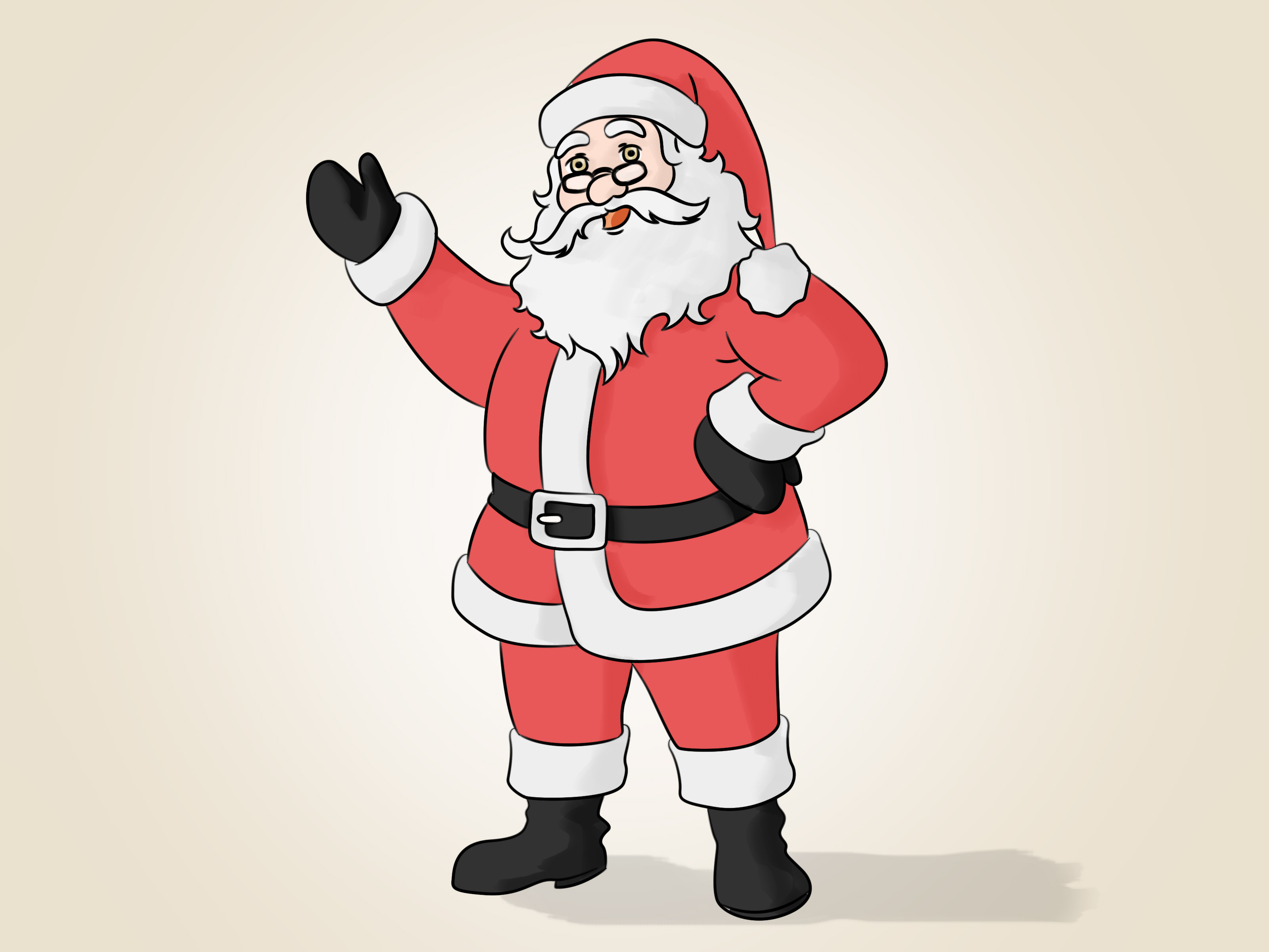 Drawn santa WikiHow 14 Pictures) Draw to