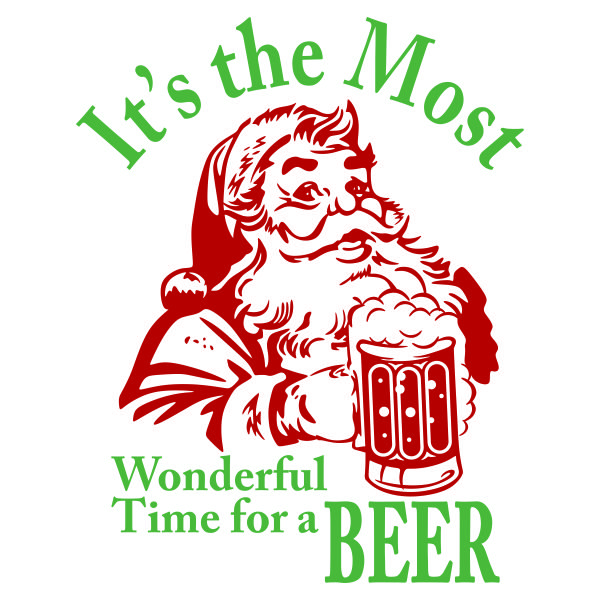 Drawn santa beer Beer Cuttable Time Crafts images