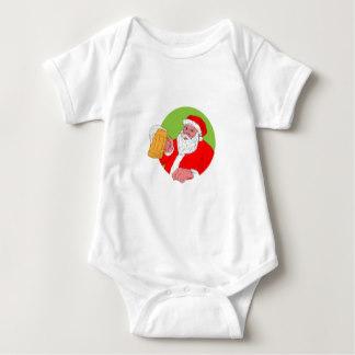 Drawn santa beer drinking & Apparel Baby Baby Zazzle