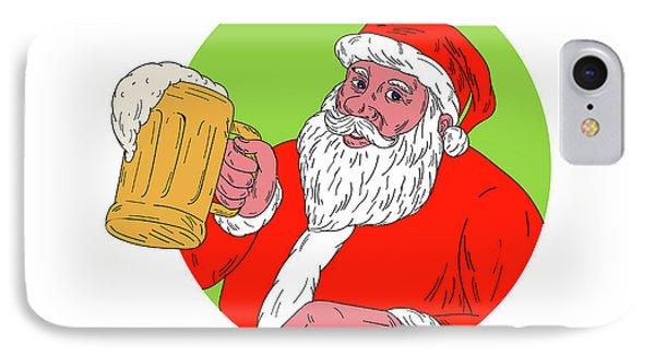 Drawn santa beer drinking Claus Digital Phone Drinking Art
