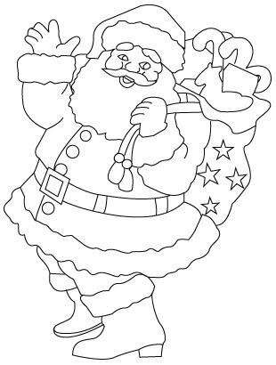Drawn santa black and white Desktopwallpaper Drawing Santa  Freedownload